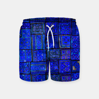 Thumbnail image of Lovely Calm Blue Traditional Moroccan Pattern Artwork   Swim Shorts, Live Heroes