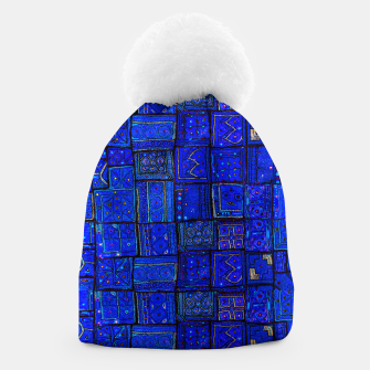 Thumbnail image of Lovely Calm Blue Traditional Moroccan Pattern Artwork   Beanie, Live Heroes