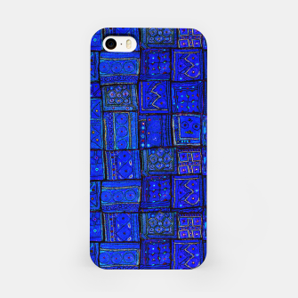 Thumbnail image of Lovely Calm Blue Traditional Moroccan Pattern Artwork   iPhone Case, Live Heroes