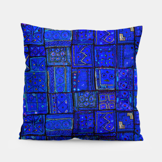 Thumbnail image of Lovely Calm Blue Traditional Moroccan Pattern Artwork   Pillow, Live Heroes