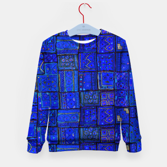 Thumbnail image of Lovely Calm Blue Traditional Moroccan Pattern Artwork   Kid's sweater, Live Heroes