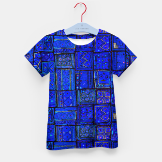 Thumbnail image of Lovely Calm Blue Traditional Moroccan Pattern Artwork   Kid's t-shirt, Live Heroes
