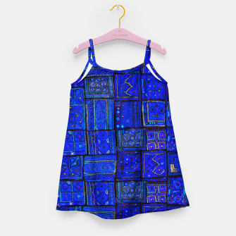 Thumbnail image of Lovely Calm Blue Traditional Moroccan Pattern Artwork   Girl's dress, Live Heroes