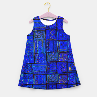 Thumbnail image of Lovely Calm Blue Traditional Moroccan Pattern Artwork   Girl's summer dress, Live Heroes