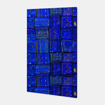 Thumbnail image of Lovely Calm Blue Traditional Moroccan Pattern Artwork   Canvas, Live Heroes