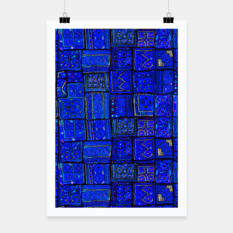 Thumbnail image of Lovely Calm Blue Traditional Moroccan Pattern Artwork   Poster, Live Heroes