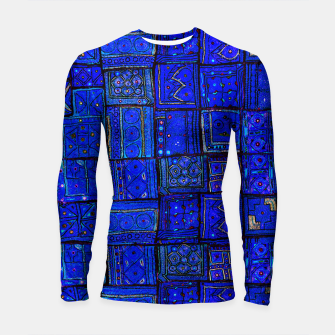 Thumbnail image of Lovely Calm Blue Traditional Moroccan Pattern Artwork   Longsleeve rashguard , Live Heroes