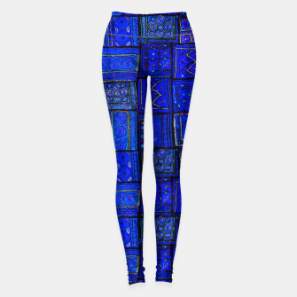 Thumbnail image of Lovely Calm Blue Traditional Moroccan Pattern Artwork   Leggings, Live Heroes