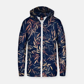 Thumbnail image of Simple Form Leaf Cotton zip up hoodie, Live Heroes