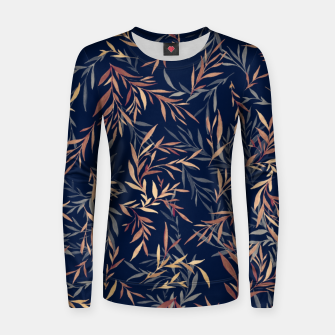 Thumbnail image of Simple Form Leaf Woman cotton sweater, Live Heroes