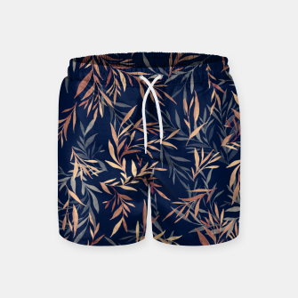 Thumbnail image of Simple Form Leaf Swim Shorts, Live Heroes