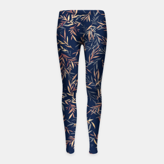Thumbnail image of Simple Form Leaf Girl's leggings, Live Heroes