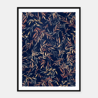 Thumbnail image of Simple Form Leaf Framed poster, Live Heroes