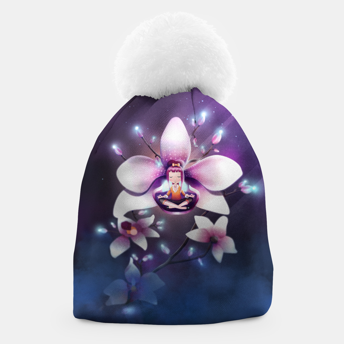 Image of Orchid Medtiation Beanie - Live Heroes