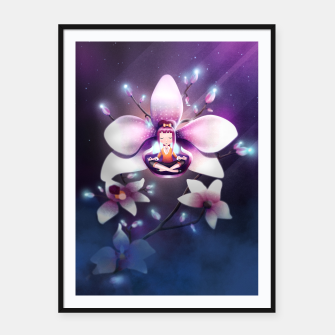 Orchid Medtiation Framed poster thumbnail image