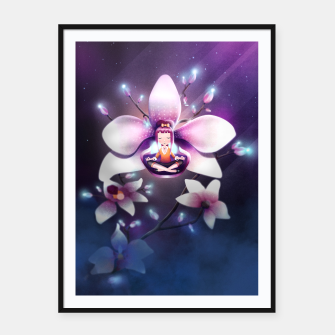 Thumbnail image of Orchid Medtiation Framed poster, Live Heroes