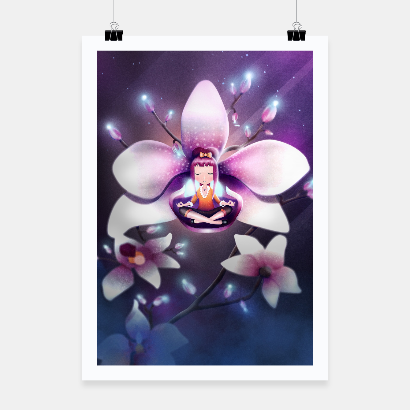 Image of Orchid Medtiation Poster - Live Heroes