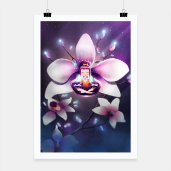 Thumbnail image of Orchid Medtiation Poster, Live Heroes