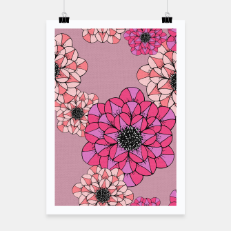 Thumbnail image of Abstract Flowers Poster, Live Heroes