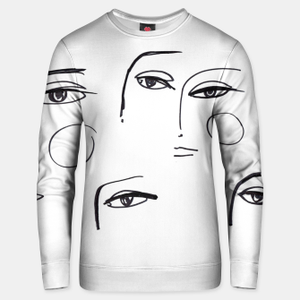 Miniatur Eyes Wide Open __ Fashion Illustration Cotton sweater, Live Heroes