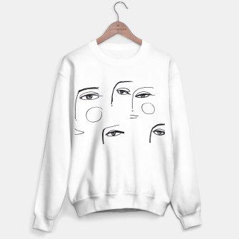 Miniatur Eyes Wide Open __ Fashion Illustration Sweater regular, Live Heroes