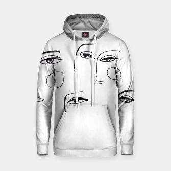 Miniatur Eyes Wide Open __ Fashion Illustration Cotton hoodie, Live Heroes