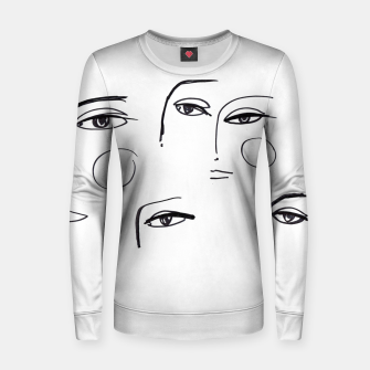Miniatur Eyes Wide Open __ Fashion Illustration Woman cotton sweater, Live Heroes