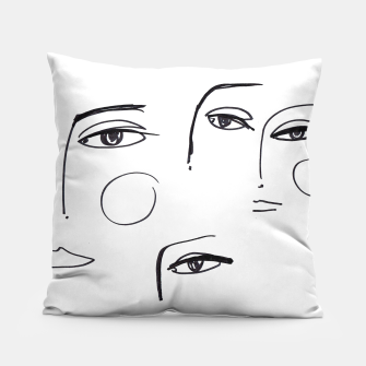 Miniatur Eyes Wide Open __ Fashion Illustration Pillow, Live Heroes