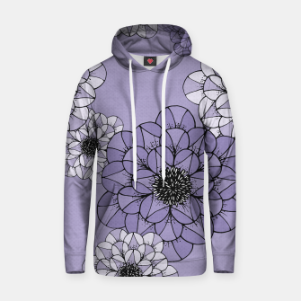 Thumbnail image of Abstract Flowers Cotton hoodie, Live Heroes