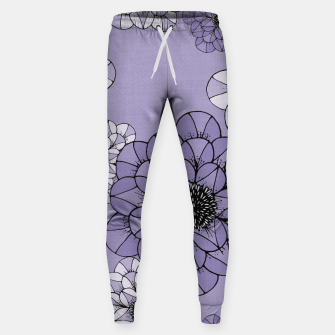 Thumbnail image of Abstract Flowers Cotton sweatpants, Live Heroes