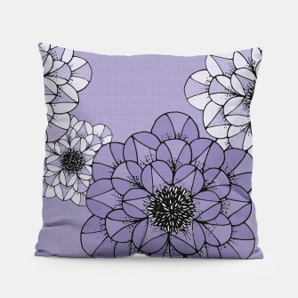 Thumbnail image of Abstract Flowers Pillow, Live Heroes