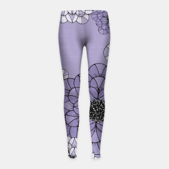 Thumbnail image of Abstract Flowers Girl's leggings, Live Heroes