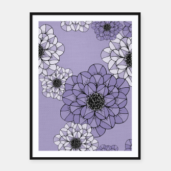 Thumbnail image of Abstract Flowers Framed poster, Live Heroes