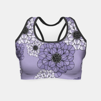 Thumbnail image of Abstract Flowers Crop Top, Live Heroes