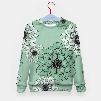 Thumbnail image of Abstract Flowers Kid's sweater, Live Heroes