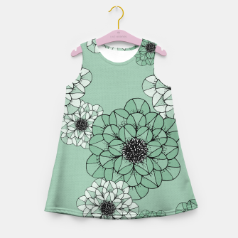 Thumbnail image of Abstract Flowers Girl's summer dress, Live Heroes