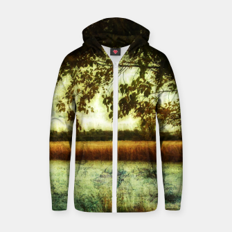 Thumbnail image of Reading By The Marsh Cotton zip up hoodie, Live Heroes