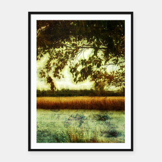 Thumbnail image of Reading By The Marsh Framed poster, Live Heroes