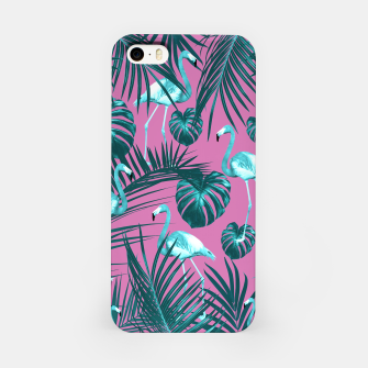 Tropical Flamingo Pattern #5 #tropical #decor #art iPhone-Hülle thumbnail image