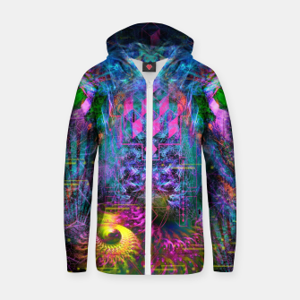 Miniatur Bass Buzz (psychedelic, psyart, visionary) Cotton zip up hoodie, Live Heroes