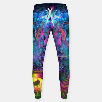 Miniatur Bass Buzz (psychedelic, psyart, visionary) Cotton sweatpants, Live Heroes