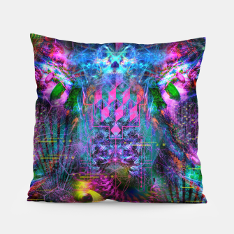 Miniatur Bass Buzz (psychedelic, psyart, visionary) Pillow, Live Heroes