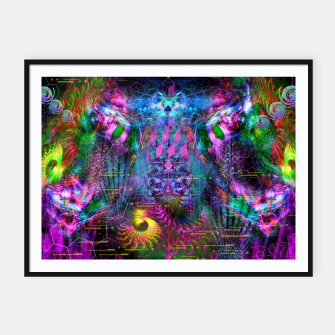 Miniatur Bass Buzz (psychedelic, psyart, visionary) Framed poster, Live Heroes