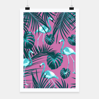 Tropical Flamingo Pattern #5 #tropical #decor #art Plakat thumbnail image