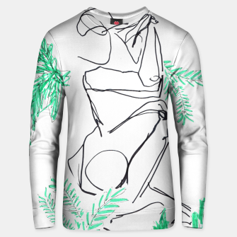 Thumbnail image of Plants And A Figure __Line Drawing  Cotton sweater, Live Heroes