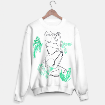 Thumbnail image of Plants And A Figure __Line Drawing  Sweater regular, Live Heroes