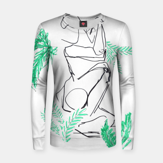 Thumbnail image of Plants And A Figure __Line Drawing  Woman cotton sweater, Live Heroes