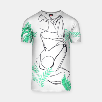 Thumbnail image of Plants And A Figure __Line Drawing  T-shirt, Live Heroes
