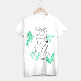 Thumbnail image of Plants And A Figure __Line Drawing  T-shirt regular, Live Heroes