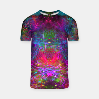 Thumbnail image of Teleportation Burst (psychedelic, abstract, psyart)  T-shirt, Live Heroes